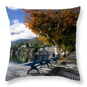 Benches With Shadow Throw Pillow