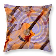 Bending Time And Space Throw Pillow