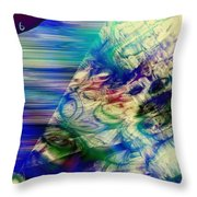 Bending Time Throw Pillow