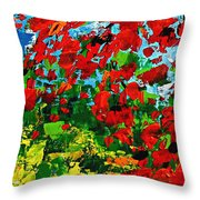 Beneath The Autumn Tree Throw Pillow