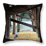Beneath The Pier II Throw Pillow