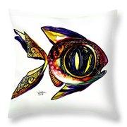 Benedict The Sixteenth Fish Throw Pillow