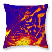 Bengala On Fire Throw Pillow