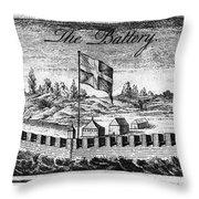Benjamin Franklin: Battery Throw Pillow