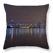 Benjamin Franklin Bridge Throw Pillow