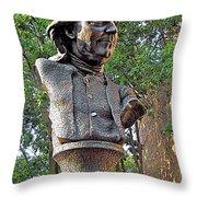 Benjamins Bust Throw Pillow