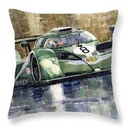 Bentley Prototype Exp Speed 8 Le Mans Racer Car 2001 Throw Pillow by Yuriy  Shevchuk