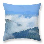 Berkshire Mist Deerfield River Valley Throw Pillow