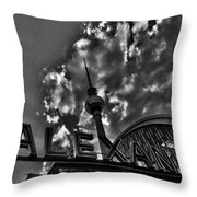 Berlin Alexanderplatz Throw Pillow by Juergen Weiss
