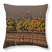 Berlin Cathedral ... Throw Pillow by Juergen Weiss
