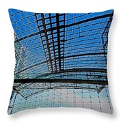 Berlin Central Station ...  Throw Pillow by Juergen Weiss