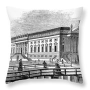 Berlin: Opera House, 1843 Throw Pillow