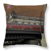 Berlin Train Throw Pillow