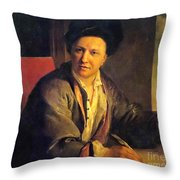 Bernard Le Bovier De Fontenelle, French Throw Pillow by Science Source