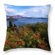 Berries By The Lake Throw Pillow