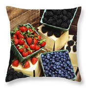 Berries Throw Pillow by Photo Researchers
