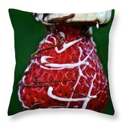 Berry Banana Kabob Throw Pillow by Susan Herber