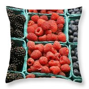 Berry Baskets Throw Pillow
