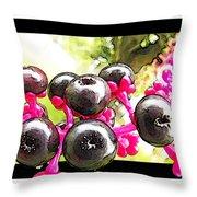 Berry Burst   Poke Berries Throw Pillow