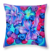 Berry Lilac Throw Pillow