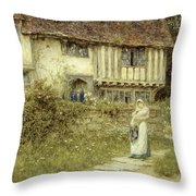 Beside The Old Church Gate Farm Smarden Kent Throw Pillow