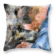 Best Friends-watercolor Study Throw Pillow