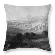Bethlehem Engraving By William Miller Throw Pillow
