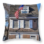 Betsy Ross House Throw Pillow
