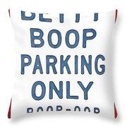 Betty Boop Parking Throw Pillow