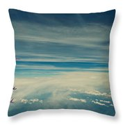 Between Earth And Sky Throw Pillow
