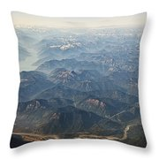 Between Vancouver And Kelowna Bc Canada Throw Pillow