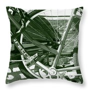 Bevy Of Beach Bikes Throw Pillow
