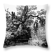 Bewick: Hanged Man Throw Pillow