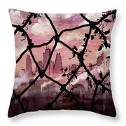 Beyond The Chain Link Throw Pillow