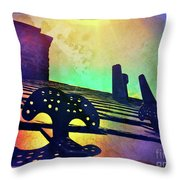 Beyond The Chimney Throw Pillow by Kevyn Bashore