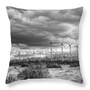 Beyond The Clouds Bw Throw Pillow