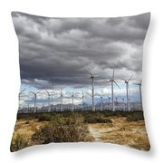 Beyond The Clouds Palm Springs Throw Pillow