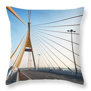 Bhumipol Bridge Throw Pillow