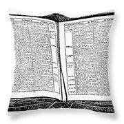 Bible, 19th Century Throw Pillow