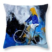 Bicycle 77 Throw Pillow