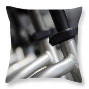 Bicycle Frame Throw Pillow