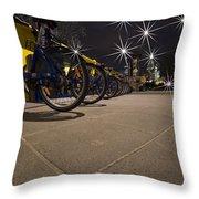 Bicycle Lane Throw Pillow