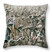 Bicycle Park In Beijing In China Throw Pillow