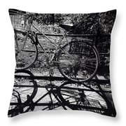 Bicycle Shadow 1 Throw Pillow