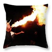 Big Axe Of Fire Throw Pillow
