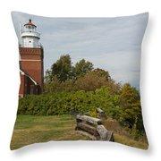 Big Bay Point Lighthouse 1 Throw Pillow