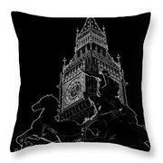 Big Ben And Boudica Statue Throw Pillow
