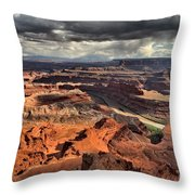 Big Bend In The Colorado Throw Pillow