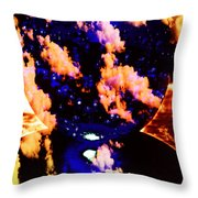 Big Blue Globe Thingee Throw Pillow