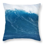 Big Blue Wave Throw Pillow